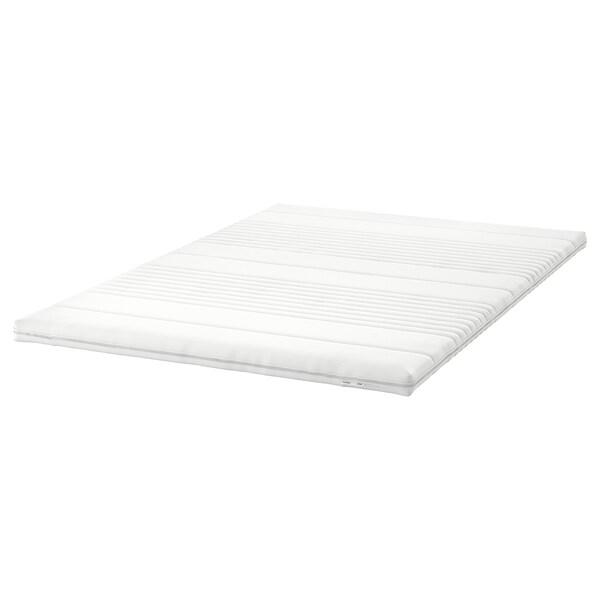 DUNVIK Lit/sommier, Hyllestad mi-ferme/Tussöy gris clair, 140x200 cm