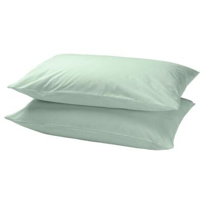 DVALA taie d'oreiller vert clair 152 pouce carré  2 pièces 50 cm 70 cm 2 pièces