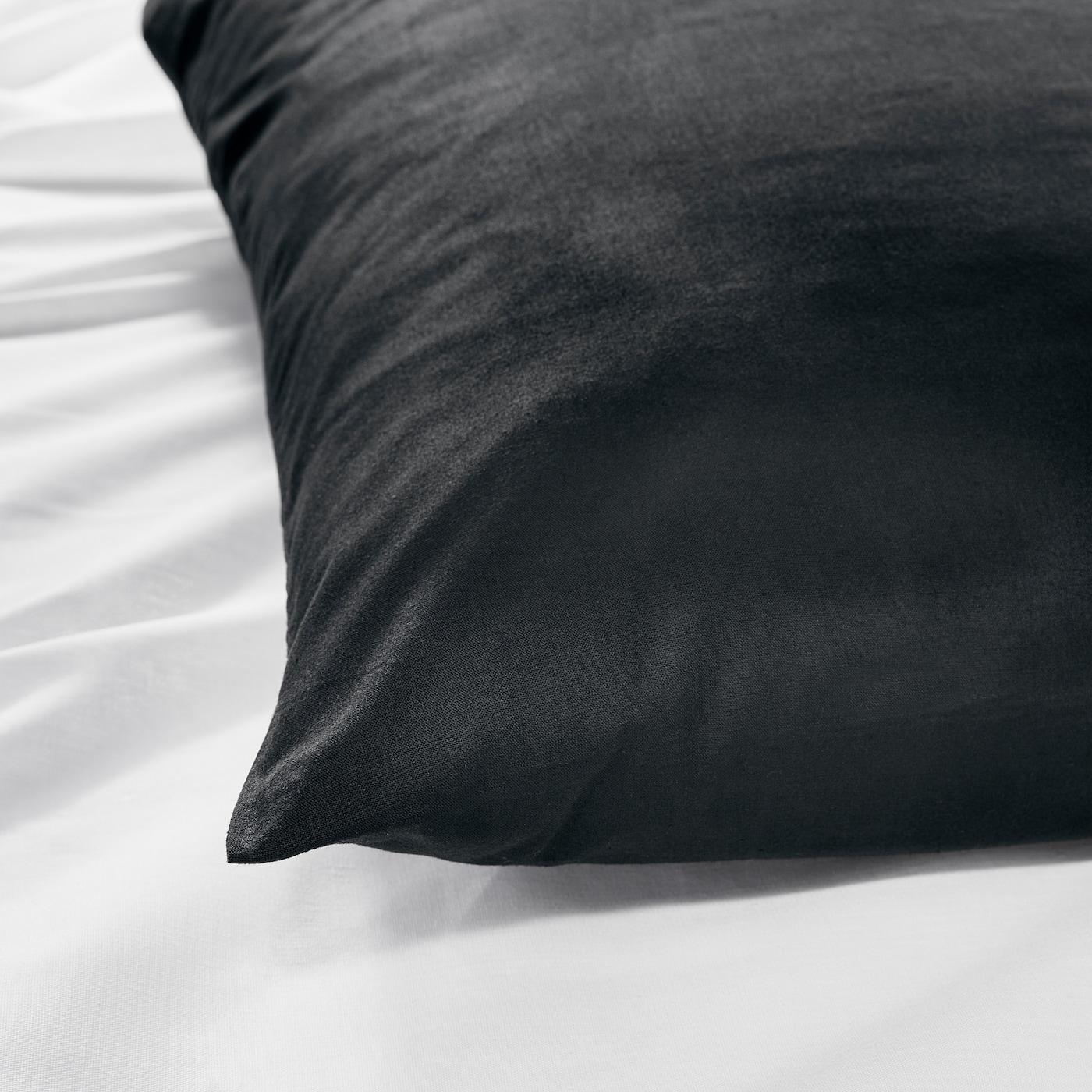 Dvala Taie D Oreiller Noir 65x65 Cm Ikea