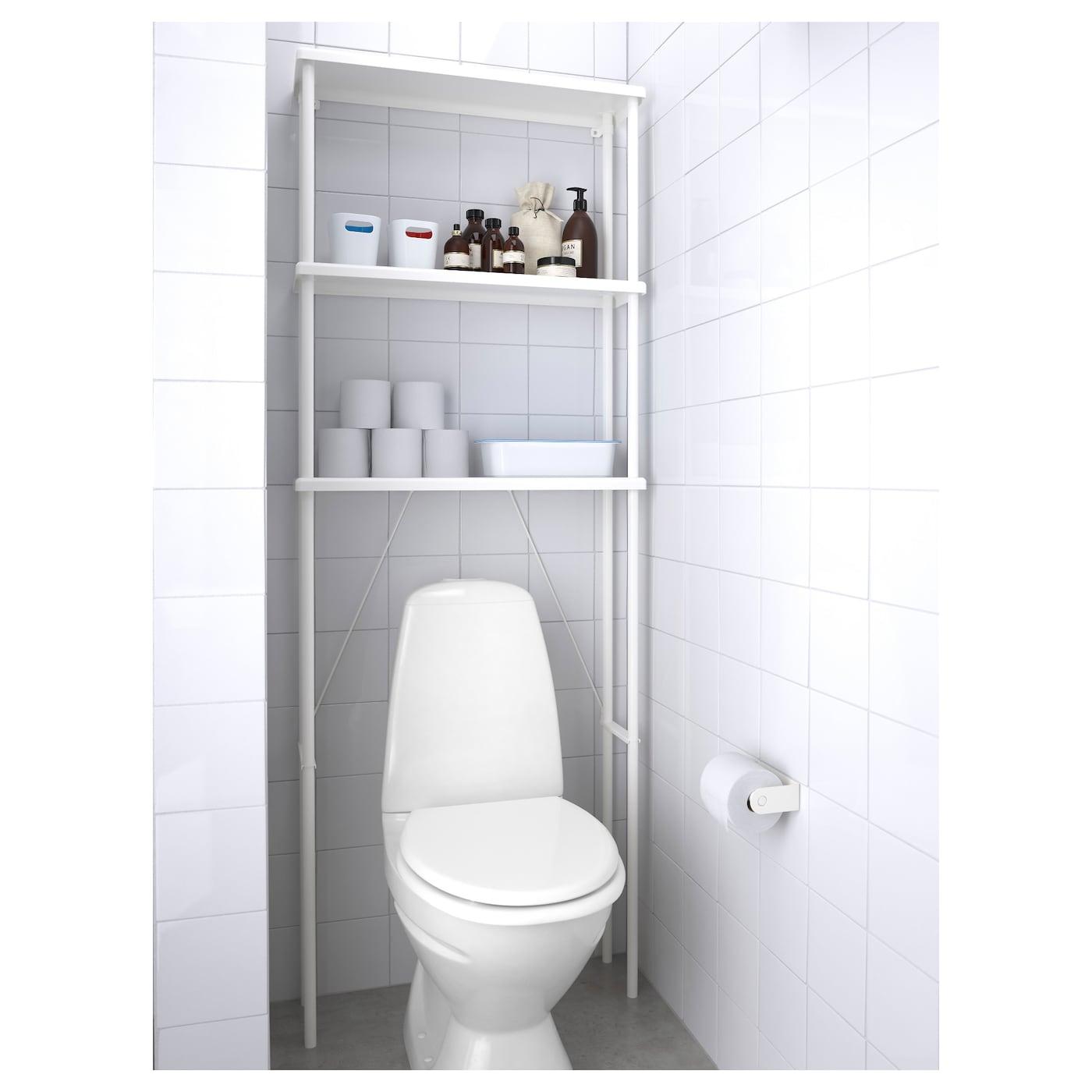Meuble Dessus Toilette Ikea dynan rangement ouvert - blanc 70x20x189 cm