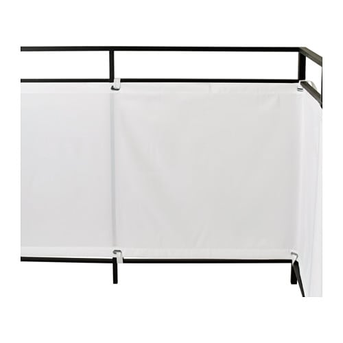 brise vue pour balcon 250 x 900 cm blanc coupe vent brise. Black Bedroom Furniture Sets. Home Design Ideas