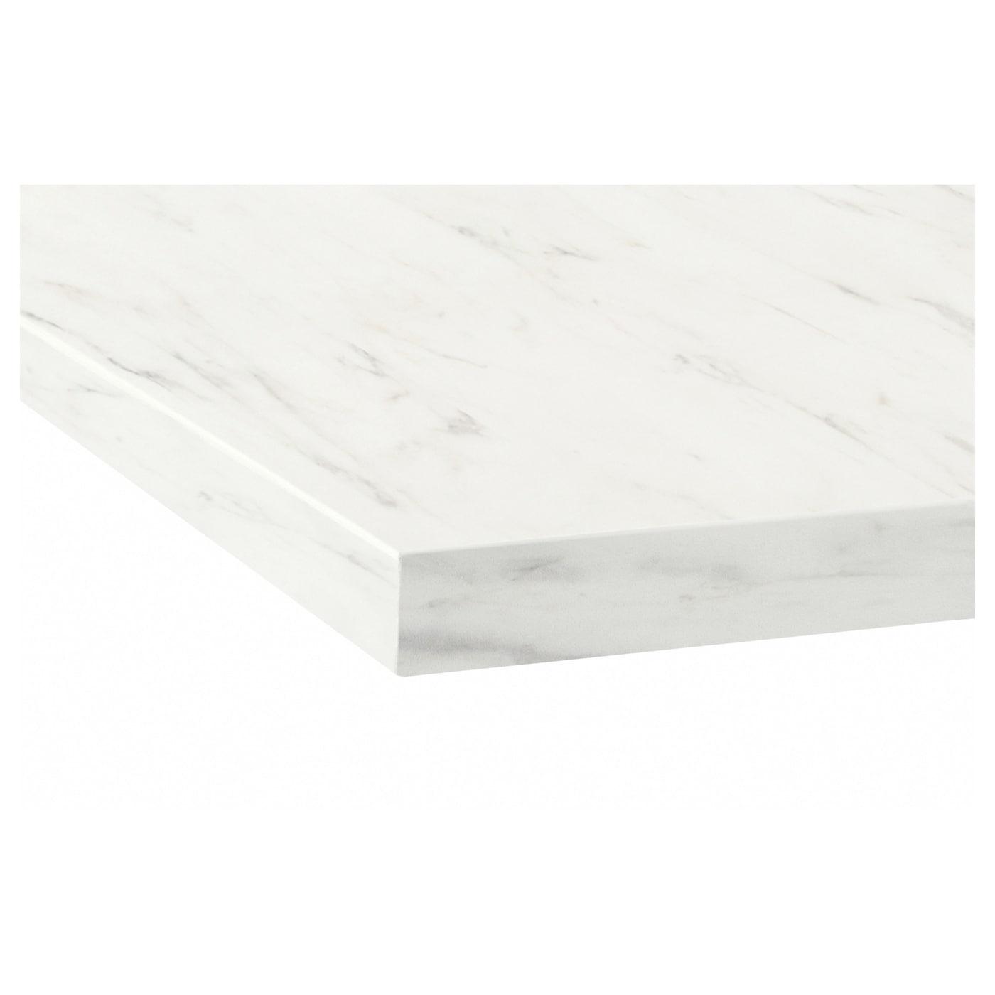 Ekbacken Plan De Travail Blanc Marbre Stratifie 246x2 Ikea