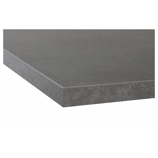 EKBACKEN Plan de travail, imitation ciment/stratifié, 186x2.8 cm