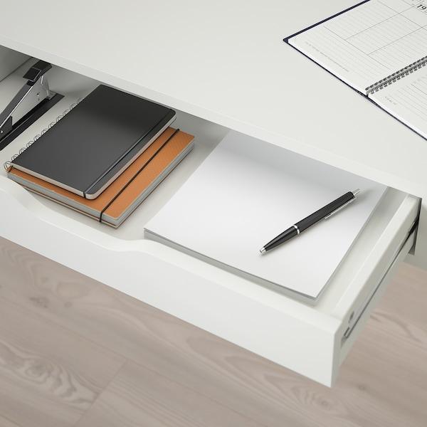 EKBY ALEX Étagère avec tiroirs, blanc, 119x29 cm