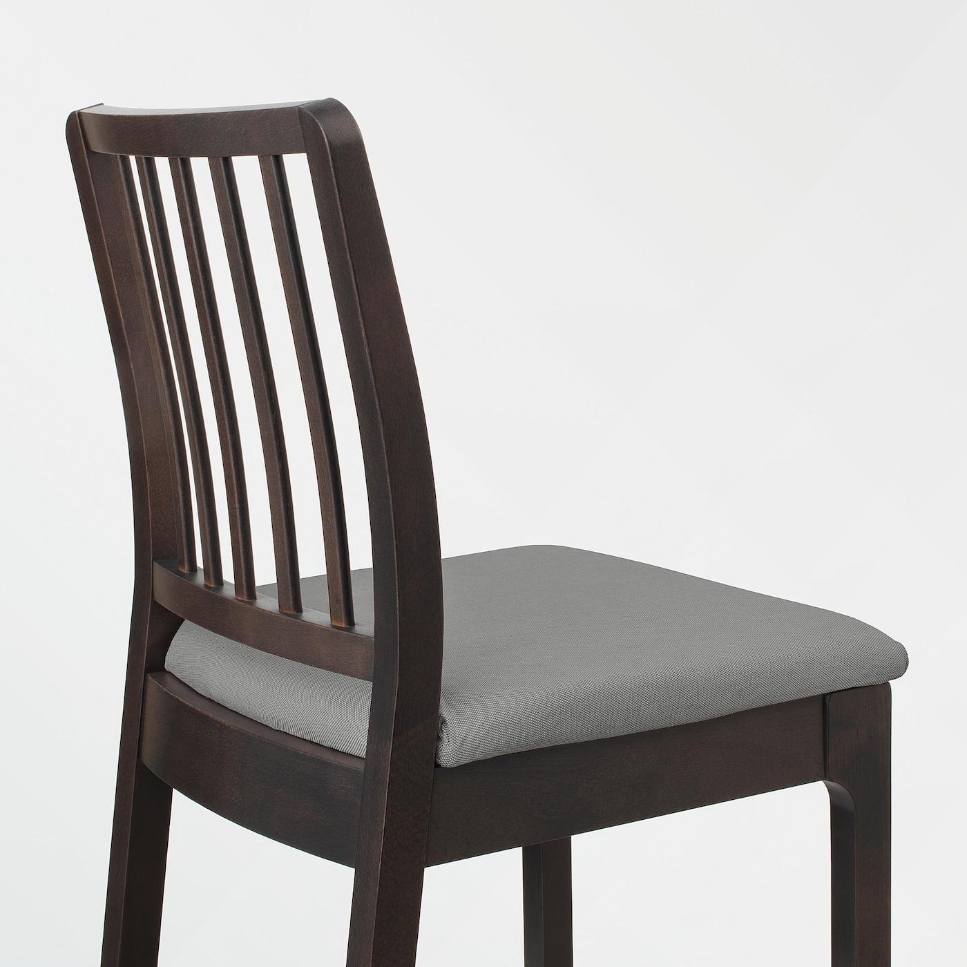 EKEDALEN Chaise de bar brun foncé, Orrsta gris clair 62 cm