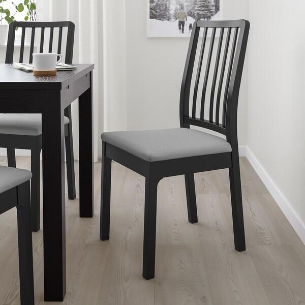 EKEDALEN chaise noir/Orrsta gris clair 110 kg 45 cm 51 cm 95 cm 45 cm 39 cm 48 cm