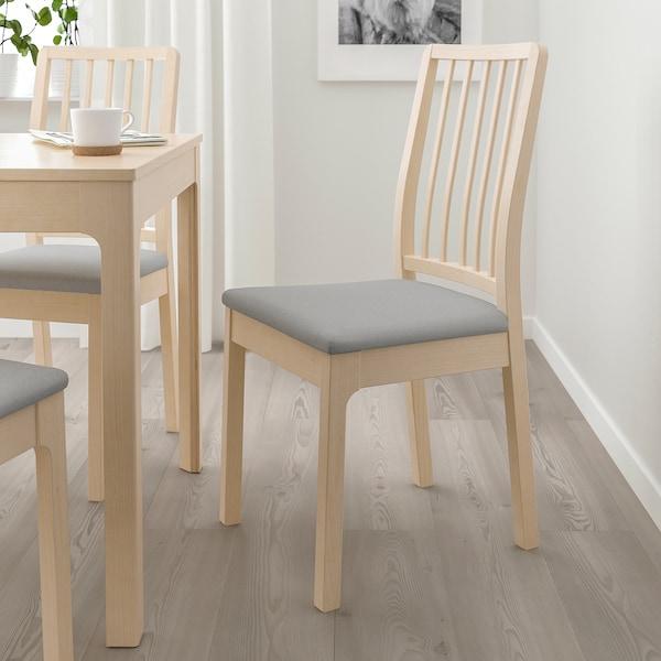 EKEDALEN Chaise, bouleau/Orrsta gris clair