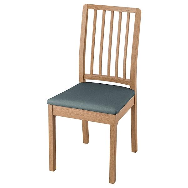 EKEDALEN Chaise, chêne/Idekulla bleu