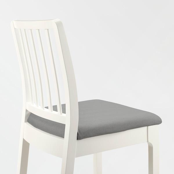 EKEDALEN Chaise de bar blancOrrsta gris clair IKEA