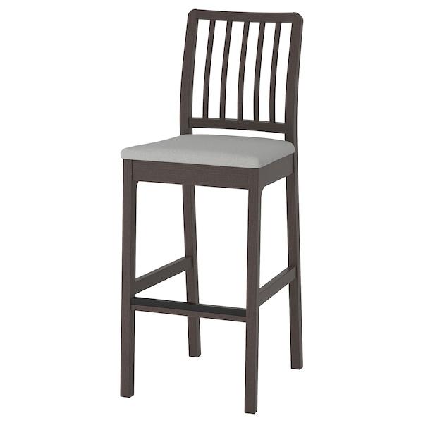 EKEDALEN Chaise de bar brun foncéOrrsta gris clair IKEA