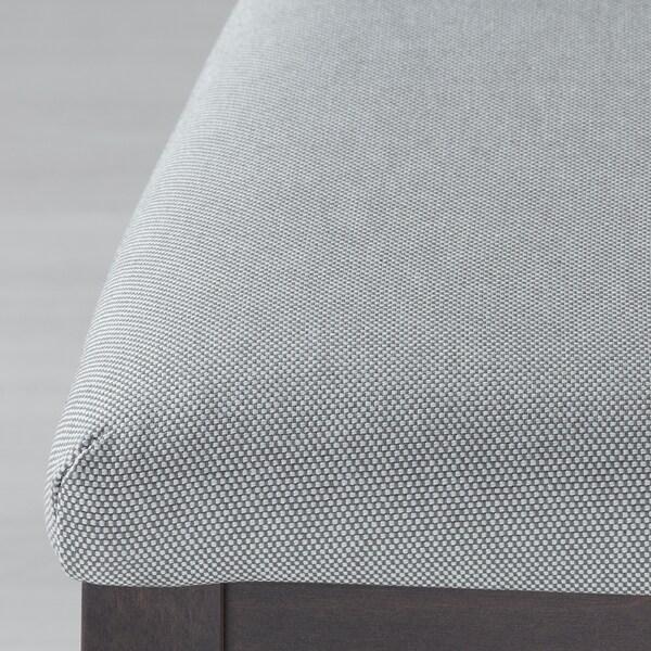 EKEDALEN Chaise, noir/Orrsta gris clair