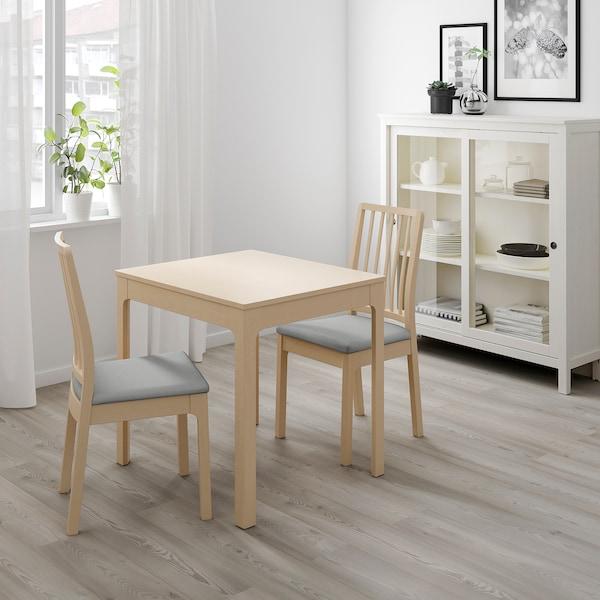 EKEDALEN table extensible bouleau 80 cm 120 cm 70 cm 75 cm
