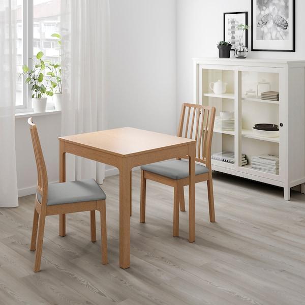 EKEDALEN table extensible chêne 80 cm 120 cm 70 cm 75 cm