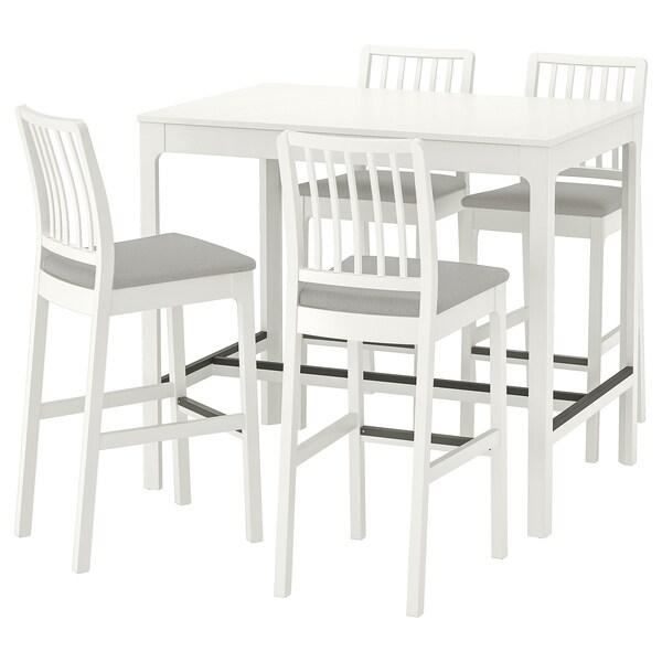 Ekedalen Ekedalen Table De Bar 4 Tabourets Blanc Orrsta Gris Clair Ikea