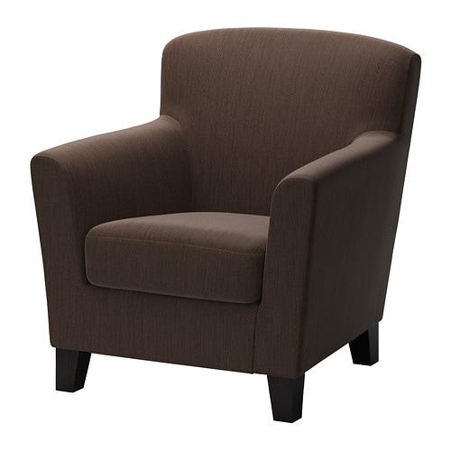 Eken s fauteuil hensta brun fonc ikea for Ikea retourne la livraison