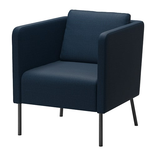 eker fauteuil skiftebo bleu fonc ikea. Black Bedroom Furniture Sets. Home Design Ideas