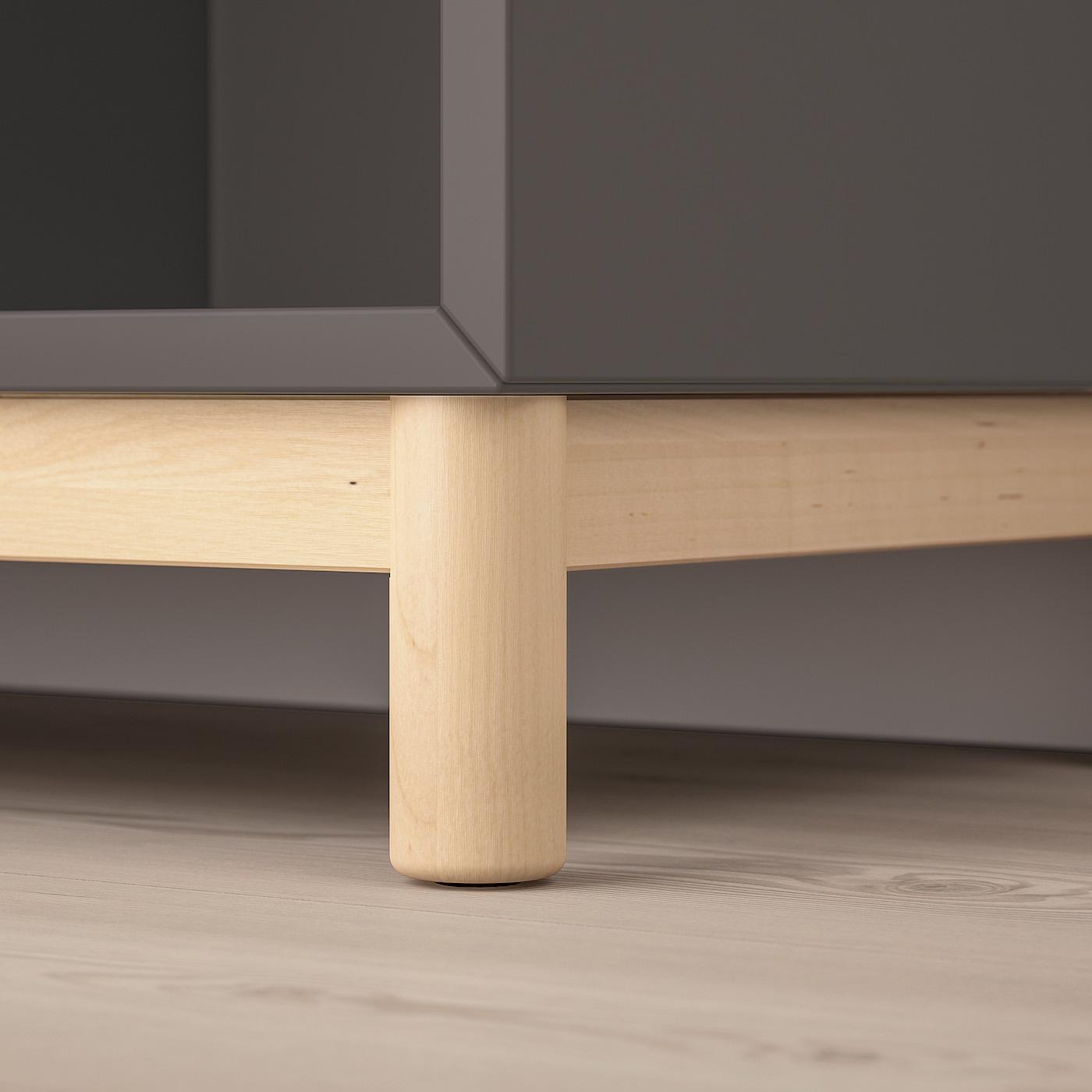 EKET combinaison rangement avec pieds gris foncé 70 cm 140 cm 35 cm 80 cm