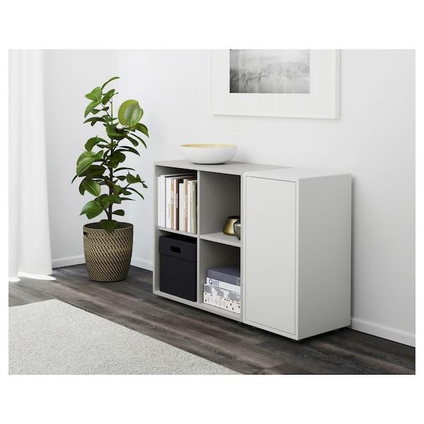 EKET Combinaison rangement avec pieds, blanc/gris clair, 105x35x72 cm