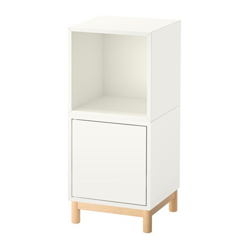 eket combinaison rangement avec pieds blanc blanc ikea. Black Bedroom Furniture Sets. Home Design Ideas