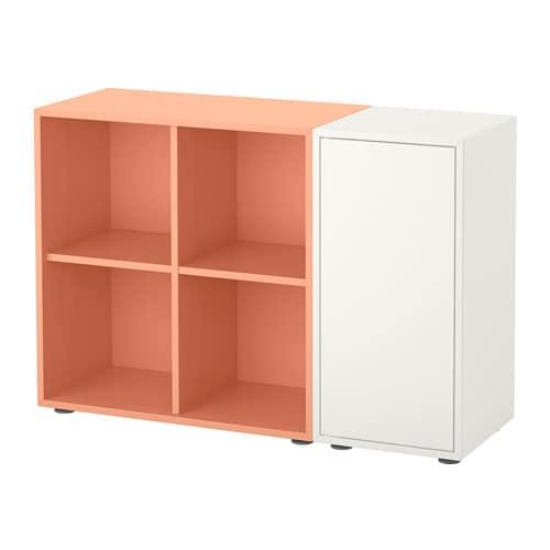 eket combinaison rangement avec pieds blanc orange clair ikea. Black Bedroom Furniture Sets. Home Design Ideas