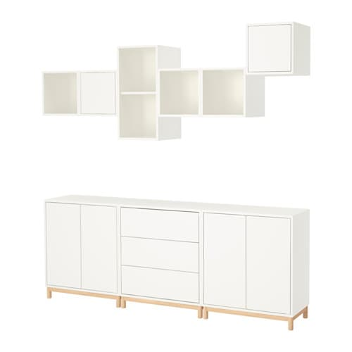 eket combinaison rangement avec pieds blanc ikea. Black Bedroom Furniture Sets. Home Design Ideas