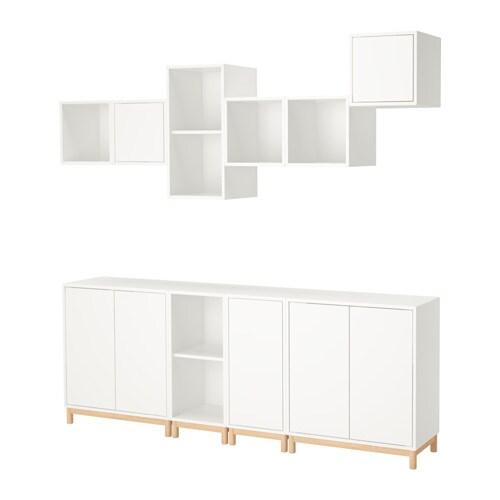 eket combinaison rangement avec pieds blanc ikea. Black Bedroom Furniture Sets. Home Design Ideas