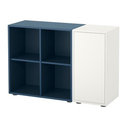 eket combinaison rangement avec pieds blanc bleu fonc ikea. Black Bedroom Furniture Sets. Home Design Ideas