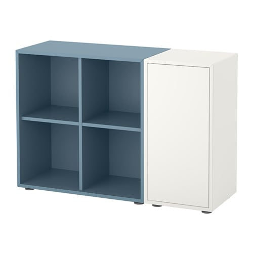 eket combinaison rangement avec pieds blanc bleu clair ikea. Black Bedroom Furniture Sets. Home Design Ideas
