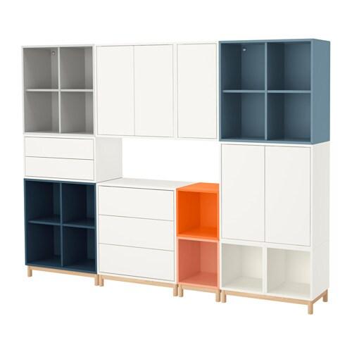 eket combinaison rangement avec pieds multicolore ikea. Black Bedroom Furniture Sets. Home Design Ideas