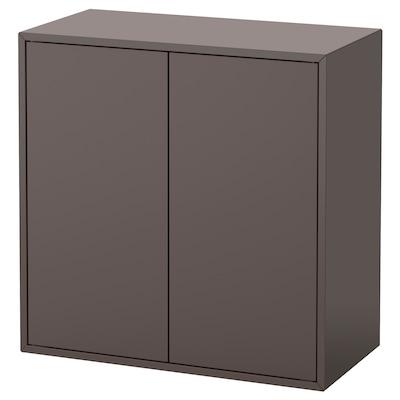 EKET Élément 2 portes et 1 tablette, gris foncé, 70x35x70 cm