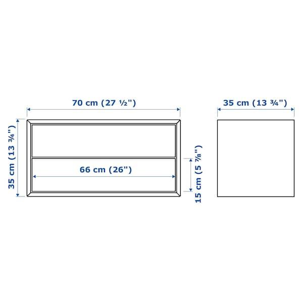 EKET Rangement 2 tiroirs, blanc, 70x35x35 cm