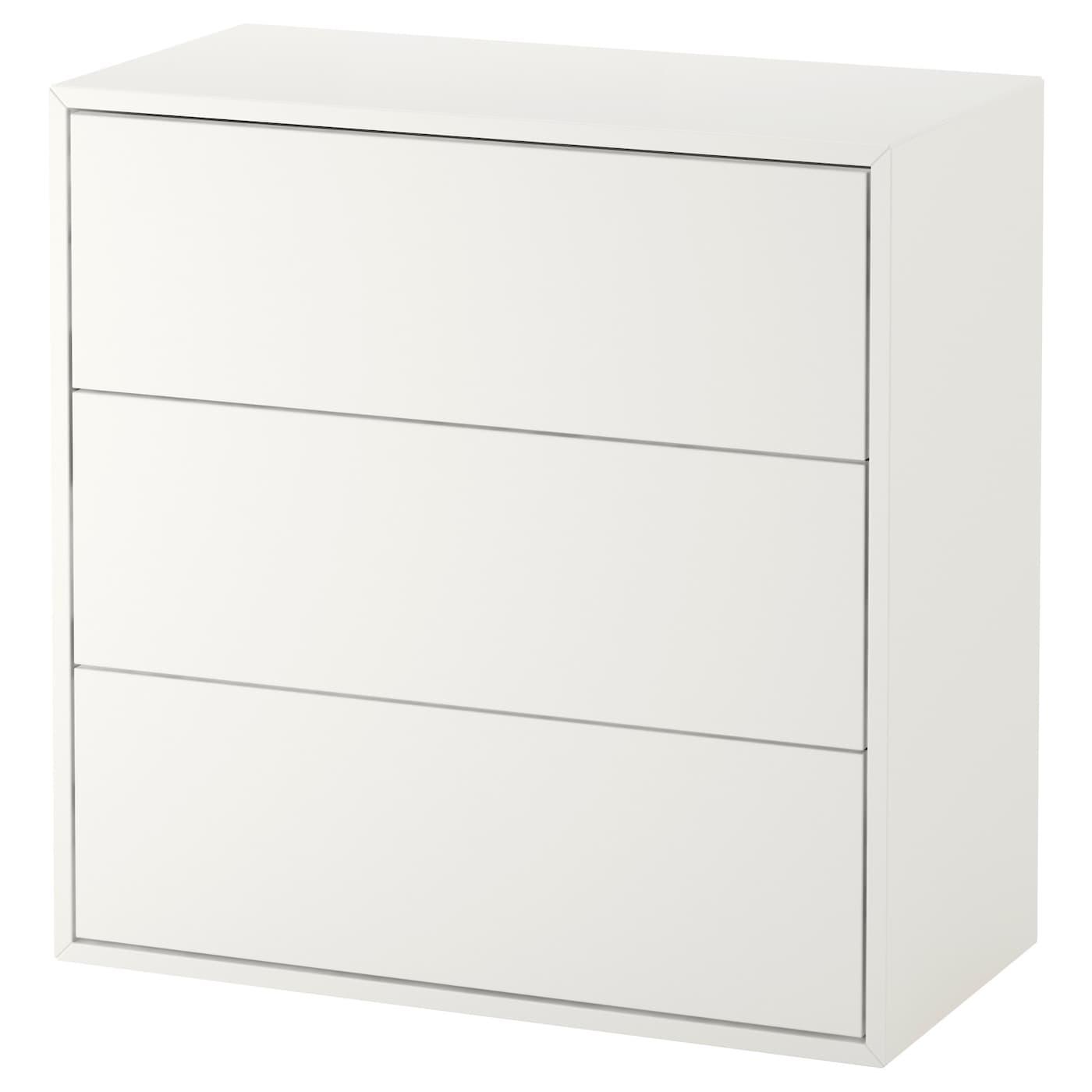 EKET Rangement 13 tiroirs - blanc 13x113x13 cm