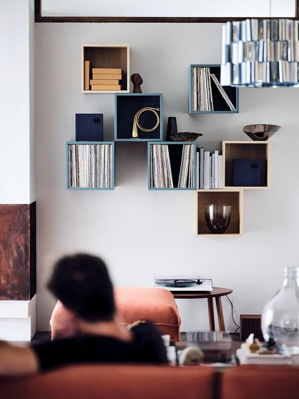 EKET Rangement, gris turquoise, 35x35x35 cm