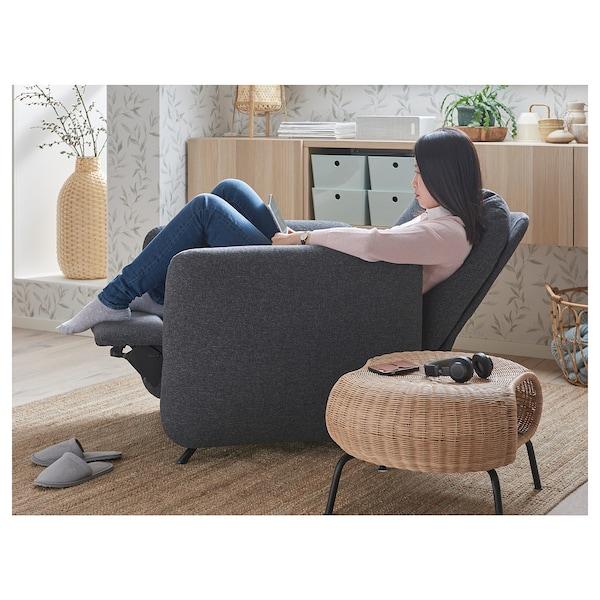 EKOLSUND Fauteuil confort, Gunnared gris foncé