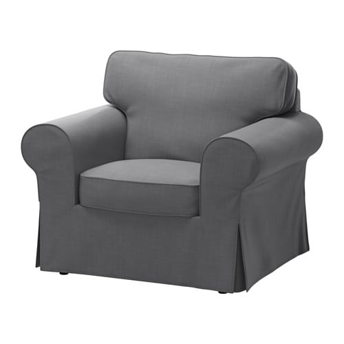 ektorp fauteuil nordvalla gris fonc ikea. Black Bedroom Furniture Sets. Home Design Ideas