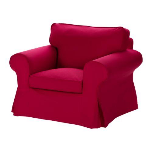 ektorp housse de fauteuil idemo rouge ikea. Black Bedroom Furniture Sets. Home Design Ideas