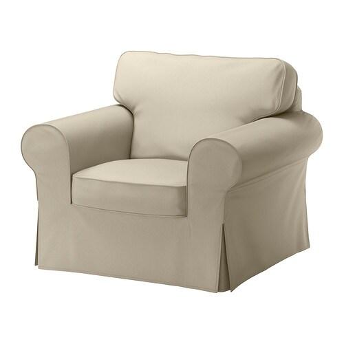 Ektorp housse de fauteuil tygelsj beige ikea for Housse fauteuil ikea
