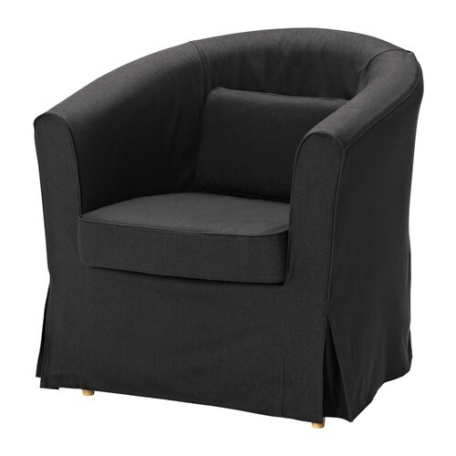 ektorp tullsta housse de fauteuil idemo noir ikea. Black Bedroom Furniture Sets. Home Design Ideas