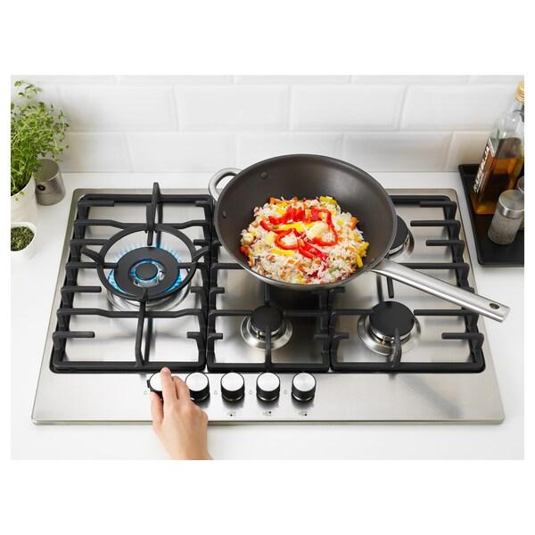 ELDSLÅGA Table de cuisson à gaz, acier inoxydable