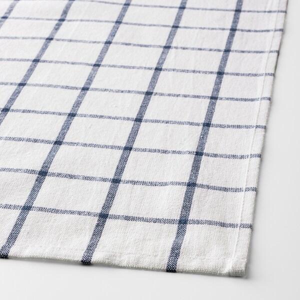 ELLY torchon blanc/bleu 65 cm 50 cm 4 pièces