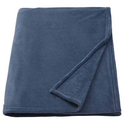 ELSABRITT Plaid, bleu foncé, 130x170 cm