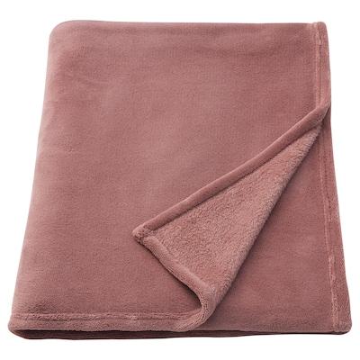 ELSABRITT Plaid, brun-rose clair, 130x170 cm