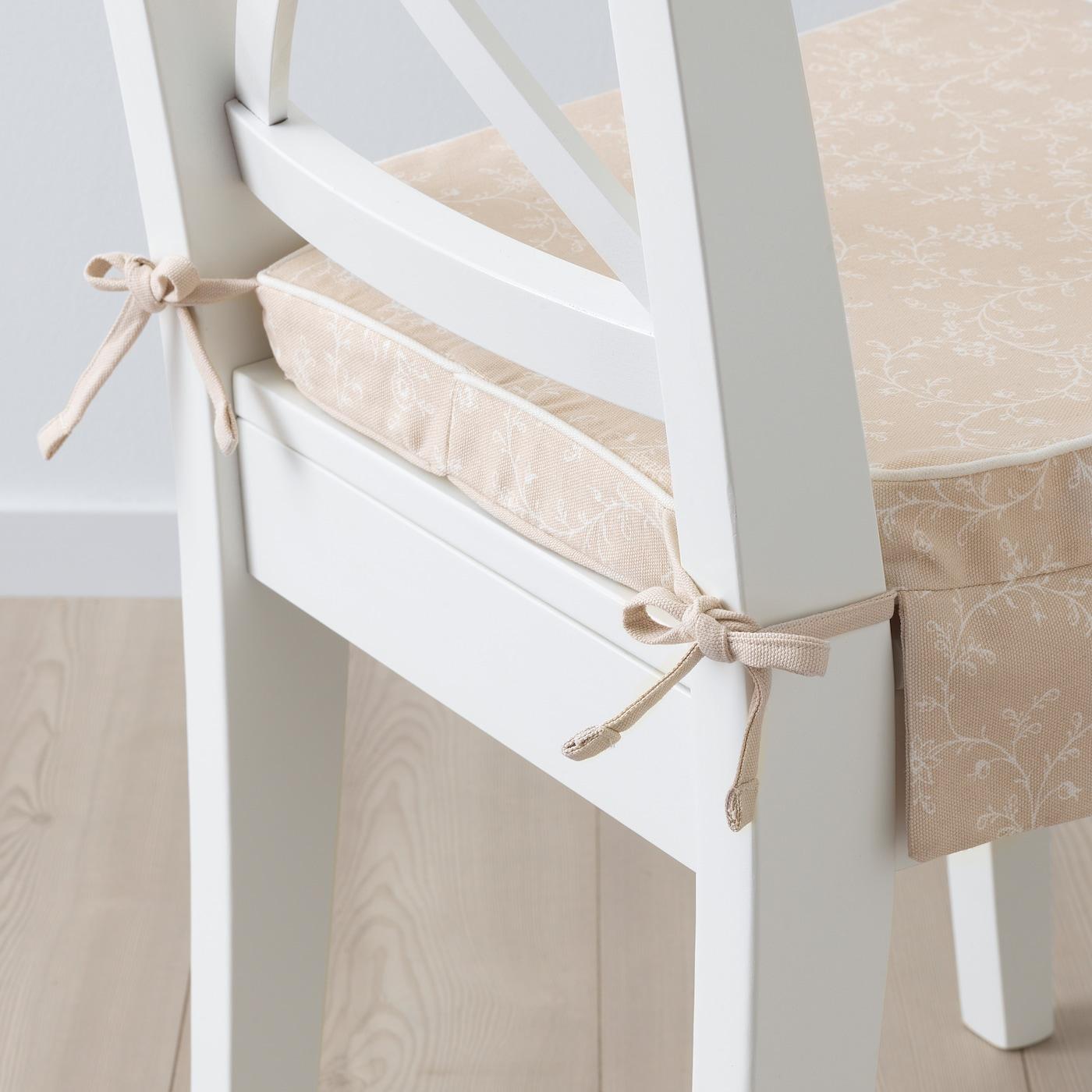 ELSEBET Carreau de chaise, beige clair, 43x42x4 IKEA