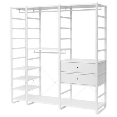 ELVARLI Combinaison armoire, blanc, 205x55x216 cm