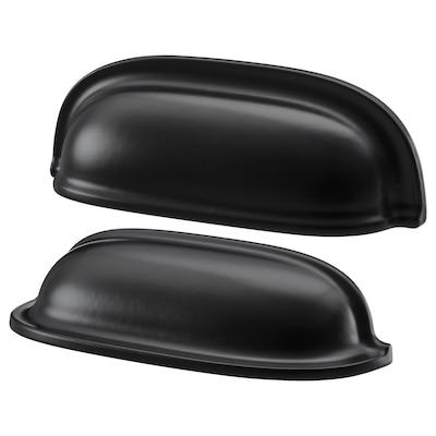 ENERYDA Poignée coquille, noir, 89 mm