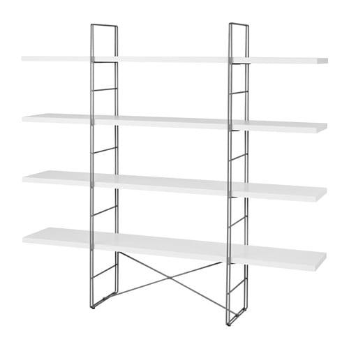 ENETRI Étagère blanc gris IKEA