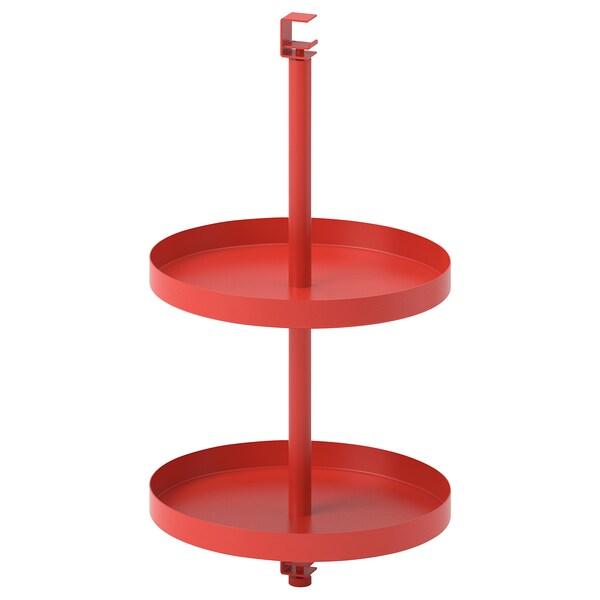 ENHET Étagère pivotante, rouge orange, 40x21 cm