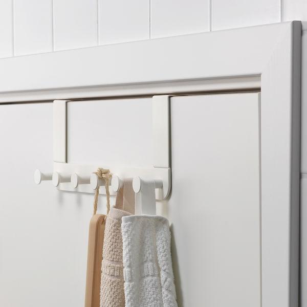 Tjusig Patere Pour Porte Mur Blanc 60 Cm Materiau Durable Ikea