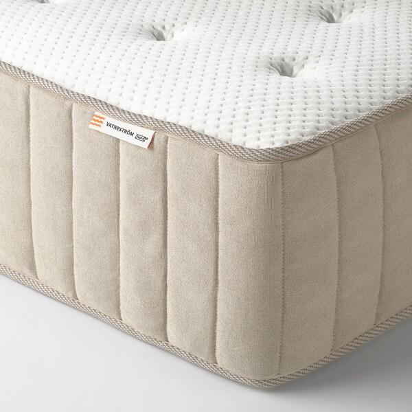 ESPEVÄR/VATNESTRÖM Lit/sommier tapissier, blanc/mi-ferme naturel, 90x200 cm