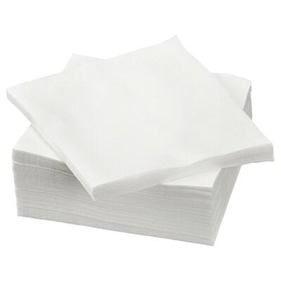 ETERISK Serviettes en papier, blanc, 33x33 cm